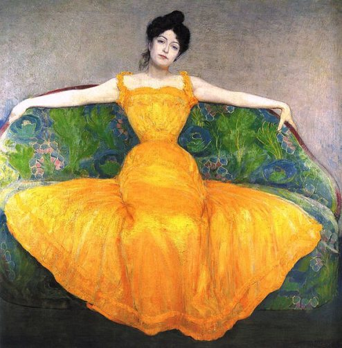 Max Kurzweil, Lady in Yellow Dress, Dame im gelben Kleid