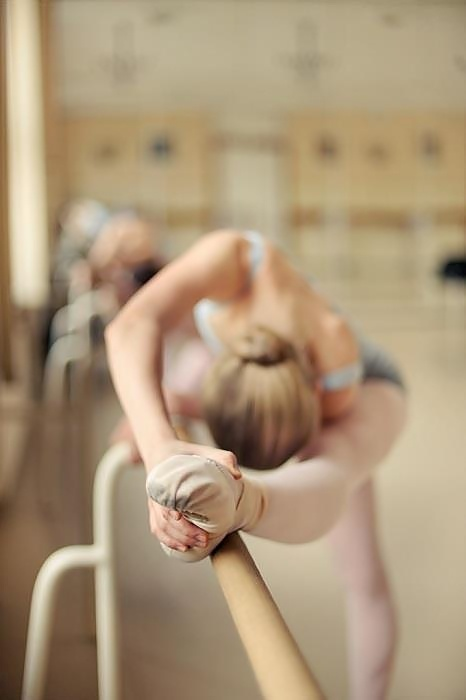 Ballerina at the barre