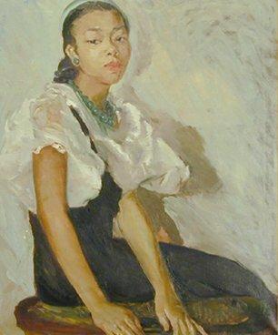 girl in green cap (1943)